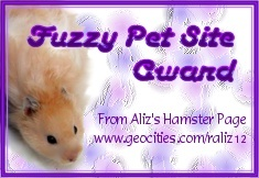 Fuzzy Pet Site Award